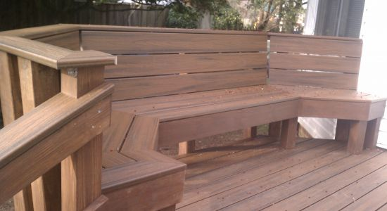 Spiced Rum Trex Benches on Deck